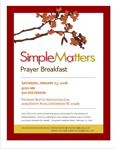 SMI Prayer Breakfast Flyer 2018